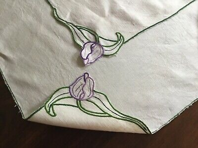 Vintage suppercloth Art Deco slub linen