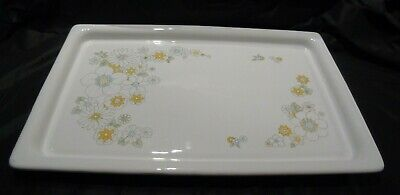 Corning Ware P-35-B Floral Bouquet Warming Serving Tray