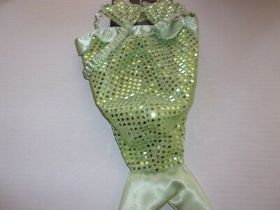 Mermaid Cat Costume Halloween new Small puppy pet Bootique O/S dog kitty sequins