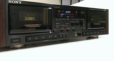 Sony TC-WR90ES Vintage Dual Cassette Deck - Serviced, tapes, manual and remote