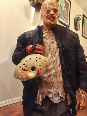 Life Size Jason Voorhees Friday The 13th Animatronic Prop Gemmy 1:1 WORKS