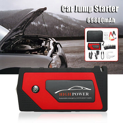 600A Portable Starting Device 4USB Car Jump Starter Emergency Charger Power Bank