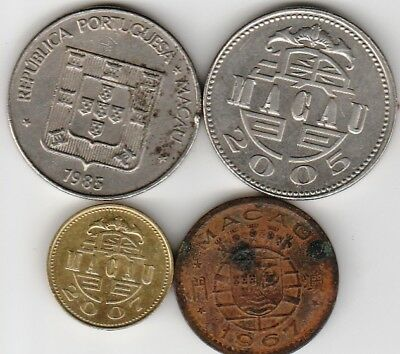 4 different world coins from MACAU