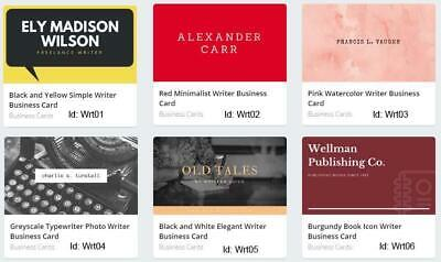 100 Writer Business Card custom One sided printing with free design