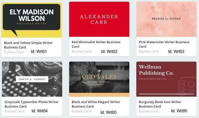 200 Writer Business Card custom Two sided printing with free design