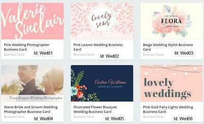 100 Wedding Business Cards custom One sided printing with free design