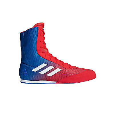 adidas Box Hog Plus Boxing Trainer Shoe Boot Red / Blue - UK 9