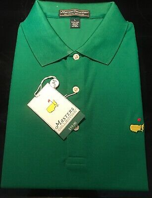 9b86a29d446 MASTERS PERFORMANCE MENS Augusta Nationals Large Black Polo Shirt ...
