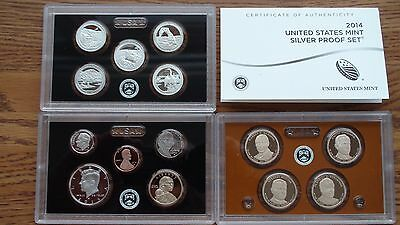 2014 S US Mint Silver 14 Coin Proof Set in US Mint Packaging & Includes a COA