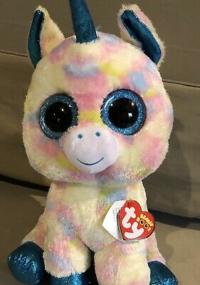 1e34c909af0 TY BEANIE BOOS Toy - BLITZ the Unicorn (LARGE Size - 17 inch) - New ...