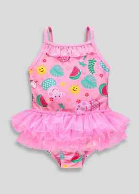 Girls Babys Pink  Peppa Pig Tutu Swimming Costume Swimsuit 12mths-5yrs (m)