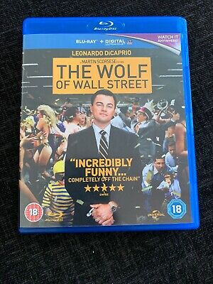 The Wolf of Wall Street Blu Ray 2014 + Digital Download - EXCELLENT CONDITION