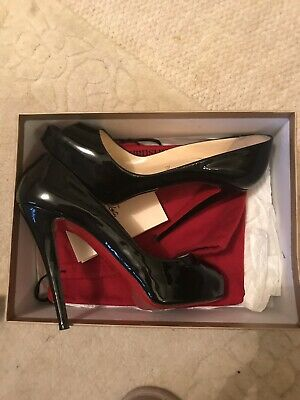 ae907a99571f Christian Louboutin Very Prive 120 Black Patent Calf High Heels Eu Size 39