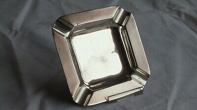 Solid Silver 'Art deco' Ashtray/Pen holder by Charles Green B'ham 1946