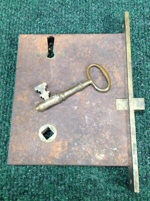 Antique Mattison Russell & Co. Mortise Lock with Original Skeleton Key #92