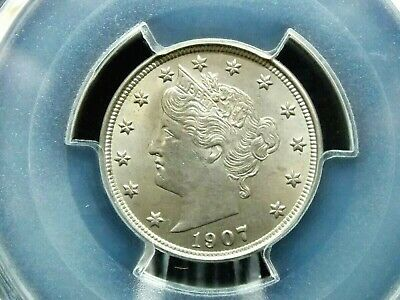 "1907 Liberty ""V"" Nickel 5c PCGS Unc. Details East Coast Coin & Collectables Inc"