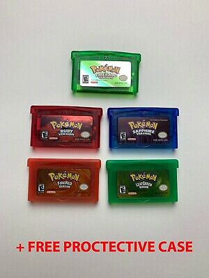 Pokemon Emerald / Ruby / Sapphire / Leaf Green / Fire Red GBA Gameboy Advance SP
