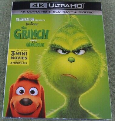 How the Grinch Stole Christmas 4K Ultra HD & Blu-ray & Digital Code Movie NEW