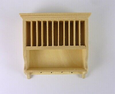 Dollhouse Miniature Unfinished Euro Kitchen Plate Rack, J1123