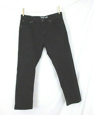a1606363 Wrangler Reserve Jeans 32x29 Black Straight Leg 'Advanced Comfort' Tag 34x29