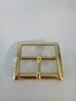 Solid Brass Roller Buckle  For 38Mm To 40Mm Belts Quality Polished Brass New