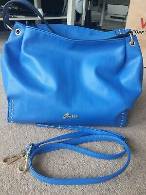 729def0d1f GUESS CROSS BODY Bag Elia Small Satchel Blue Denim - £68.10 ...