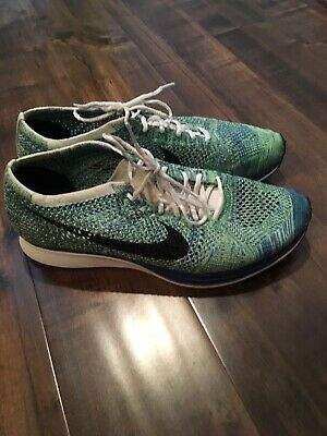 61cd4d7bc37e NIKE FLYKNIT RACER Grey White Grey Size 10.5 Trainer -  69.99