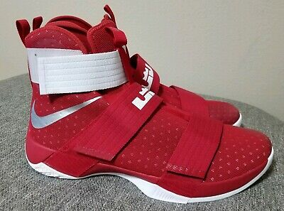 b22fa380460 Nike LeBron Soldier 10 TB Team Red Basketball 856489-661 Men s Size 17.5
