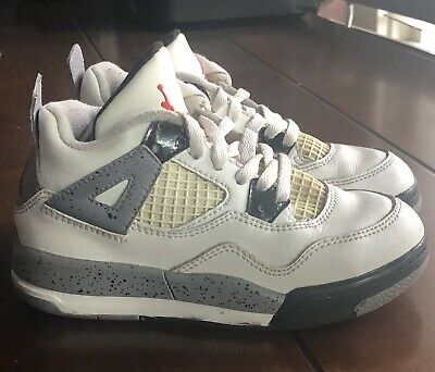 size 40 8620f 5bfb1 Air Jordan IV Retro 4 White Cement Toddler/ Child Sneaker Size 10.5C 308499-