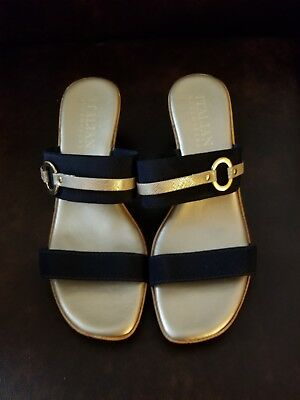 0610789005c21 NEW ITALIAN SHOEMAKERS Toe ring Sandals Rhinestone size 10 Made in ...