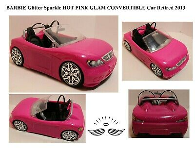 BARBIE Glitter Sparkle HOT PINK GLAM CONVERTIBLE Car Retired 2013