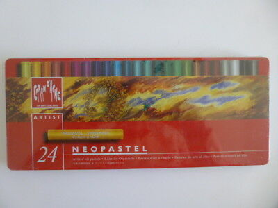 Caran D'ache Neopastel, New : Set Of 24 In Original Factory-Sealed Metal Tin