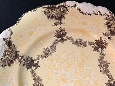 REPRODUCTION ~ Ridgway Etruscan Festoon Pattern – Plate - Yellow / Peach & Brown