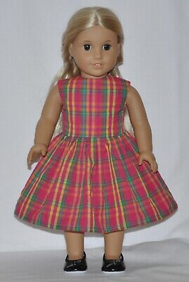 Country Gingham Doll Dress Clothes Fits American Girl Dolls