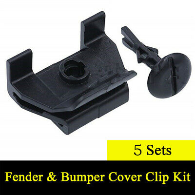 5 Sets Car Front Fender & Bumper Cover Clips Kits For Toyota Camry Corolla Lexus