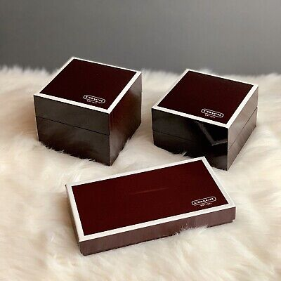Coach Set Of 3 Brown Watch/Gift Boxes