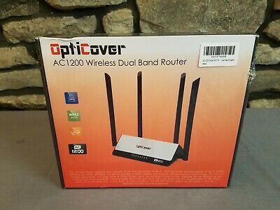OPTICOVER AC1200 WIRELESS DUAL BAND ROUTER 2 4 & 5 GHz WPS WPA2 SECURITY  UPnP