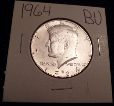 #825 Brilliant Uncirculated Silver Kennedy Half Dollar 1964 Bu