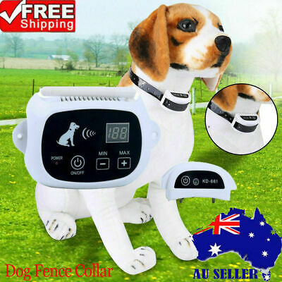500M Wireless Pet Electric Dog Collar Fence Strap Training System Rechargeable.