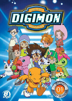 Digimon: Digital Monsters: The Official First Season (Season 1) (8 Disc) DVD NEW