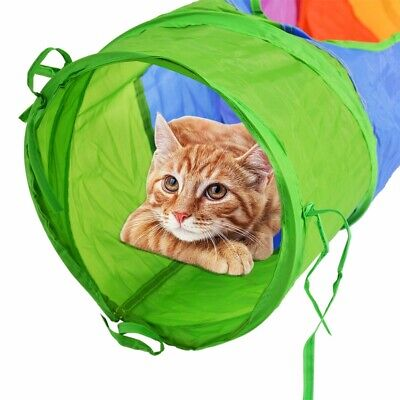 Cat Tunnel Pet Tube Collapsible Play Toy Indoor Outdoor Kitty Puppy Toys UK