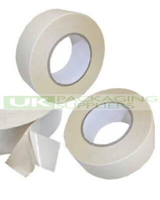 """72 Rolls Of Strong 2"""" Wide Double Sided Sticky Tissue Tape 50 Metres On Roll New"""