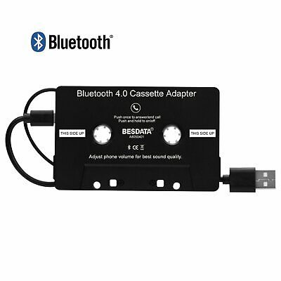 Bluetooth 4.0 Wireless Car Van Cassette Tape Adapter for MP3 iPhone iPod Android