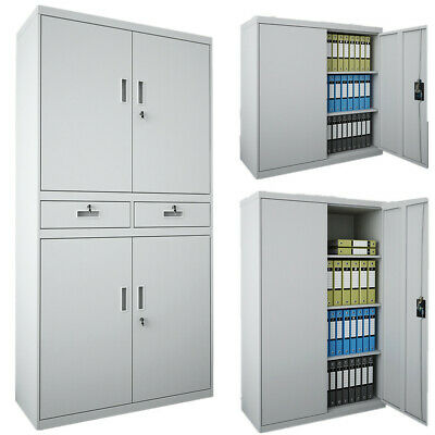 180CM Office Storage Cupboard Filing Cabinet Tool Furniture Organizer With Lock