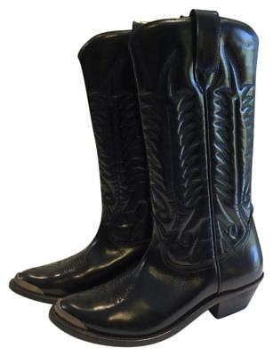 9608fe974838b GOLDEN GOOSE SYDNEY Deluxe Brand A2 Black Leather Western Ankle ...