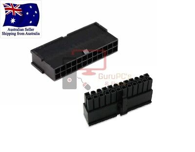 Set of 24 PIN Male & Female ATX Motherboard Power Supply Connectors