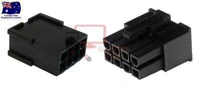 Set of Male & Female 8 PIN VGA/PCI-Express PSU Connectors. With or Without Pins