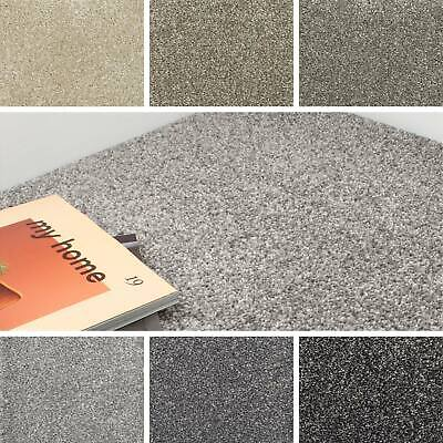 Luxury 17mm Saxony Actionback Carpet Flecked Hard Wearing Lounge Bedroom Living