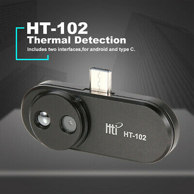 HT-102 Handheld Black USB Type-C Infrared Camera Thermal Imager for Android New