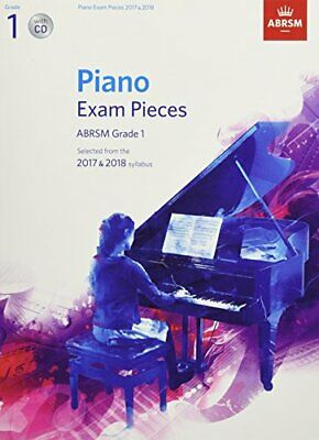 Piano Exam Pieces 2017 & 2018  ABRSM Grade 1  with CD New Sheet music Book